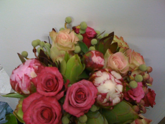 Rose, Peony & Native Bouquet