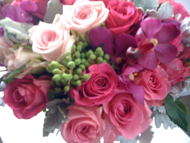 Rose, Orchid & Berry Bouquet