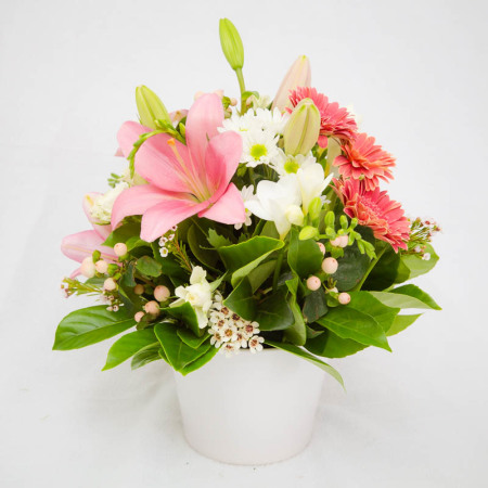 Pastel Arrangement Ceramic Vase