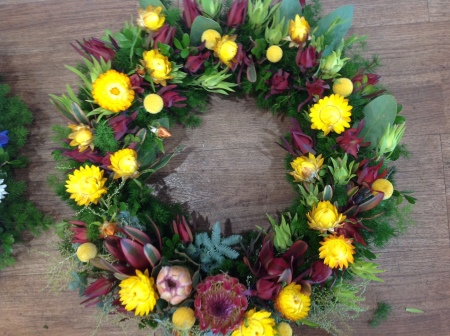 Funeral Flowers Native Wreath