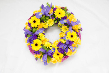 Funeral Flowers Wreath Multi