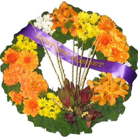 Funeral Flowers Bright Wreath