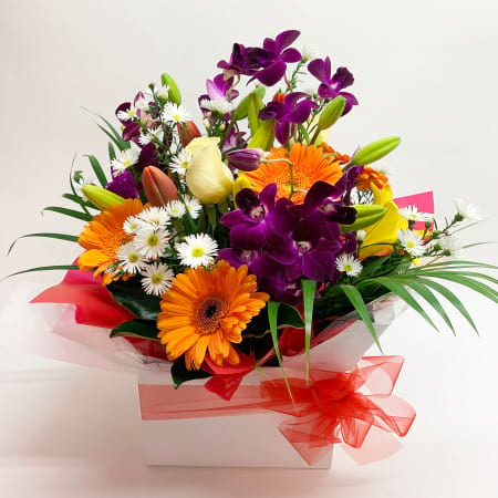 Bright Box of Fresh Flowers