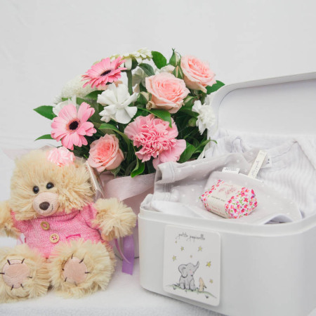 Baby Girl Box with Papinelle New Born Gift Set