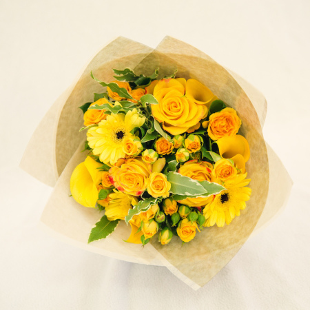 Yellow fresh flower bouquet manly dee why florist yellow fresh flower bouquet mightylinksfo