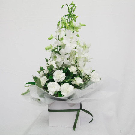 Pure White Orchid Box