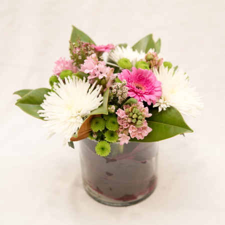 chrysanthemum, gerbera arrangement